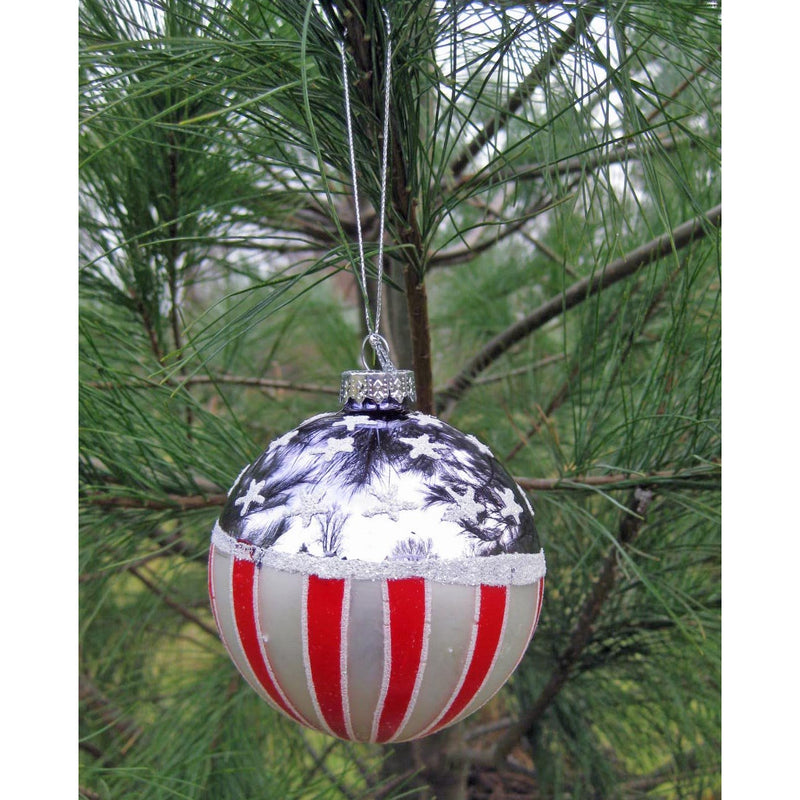 American Flag Ball Ornament - Chesapeake Bay Goods