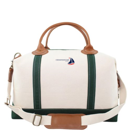 Islander Canvas Weekender Tote Bag Green - Chesapeake Bay Goods
