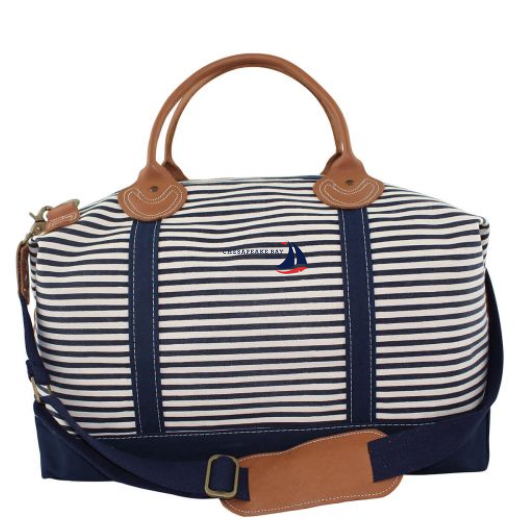 Navy Striped Weekender Tote - Chesapeake Bay Goods