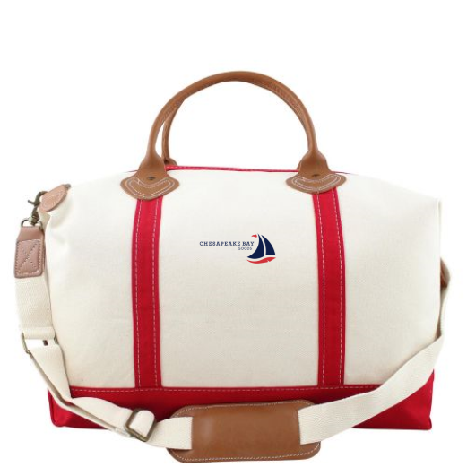 Red Weekender Canvas Tote - Chesapeake Bay Goods