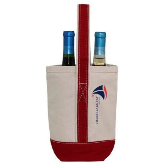 Red Canvas Wine Tote - Chesapeake Bay Goods