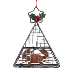 Nautical Wire Cage with Crab Ornament Chesapeake Bay Goods