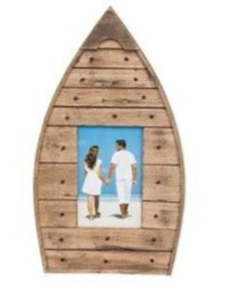 Wood Boat Photo Frame