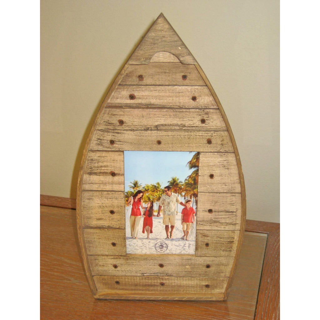 Photo Frame 4x6 - Wood Boat Shape - Chesapeake Bay Goods