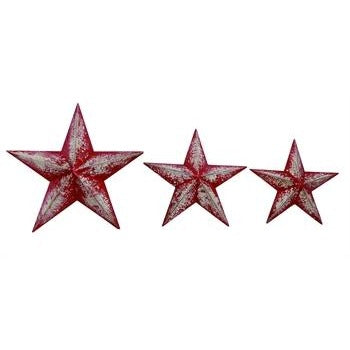 Wood Red Holiday Star - Chesapeake Bay Goods