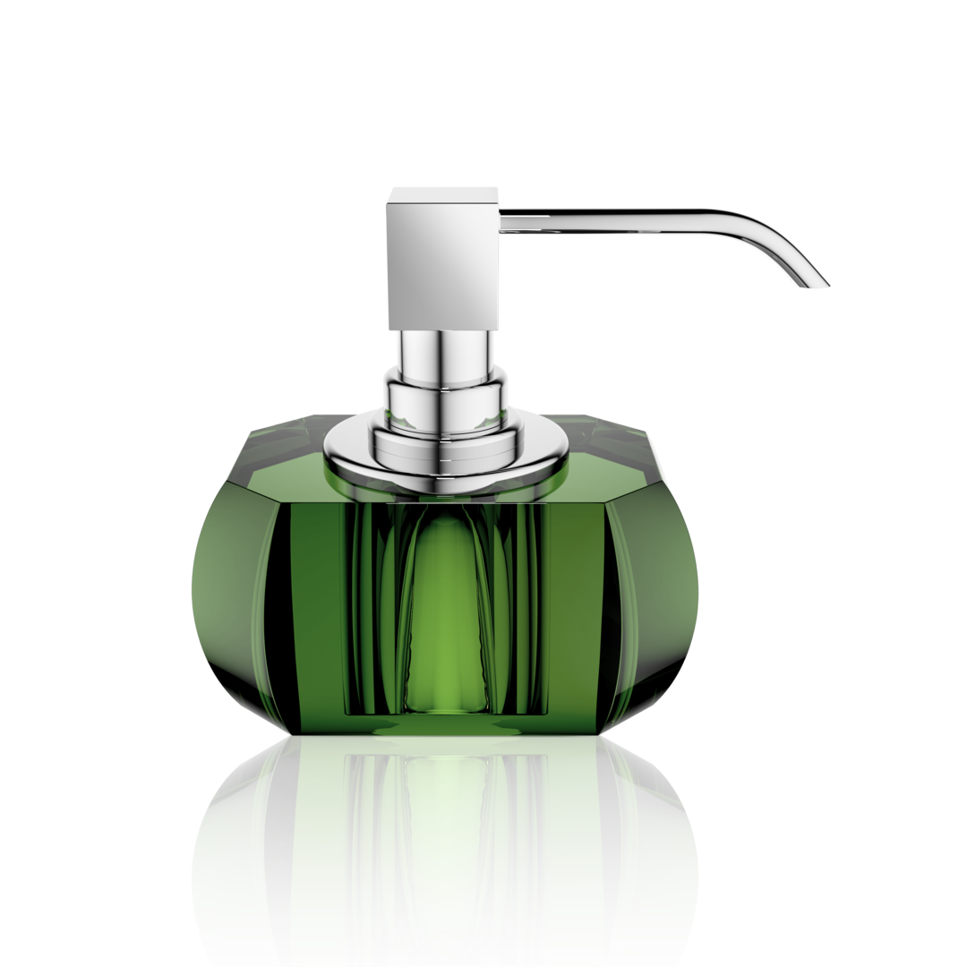 Kristall Soap Dispenser- English Green