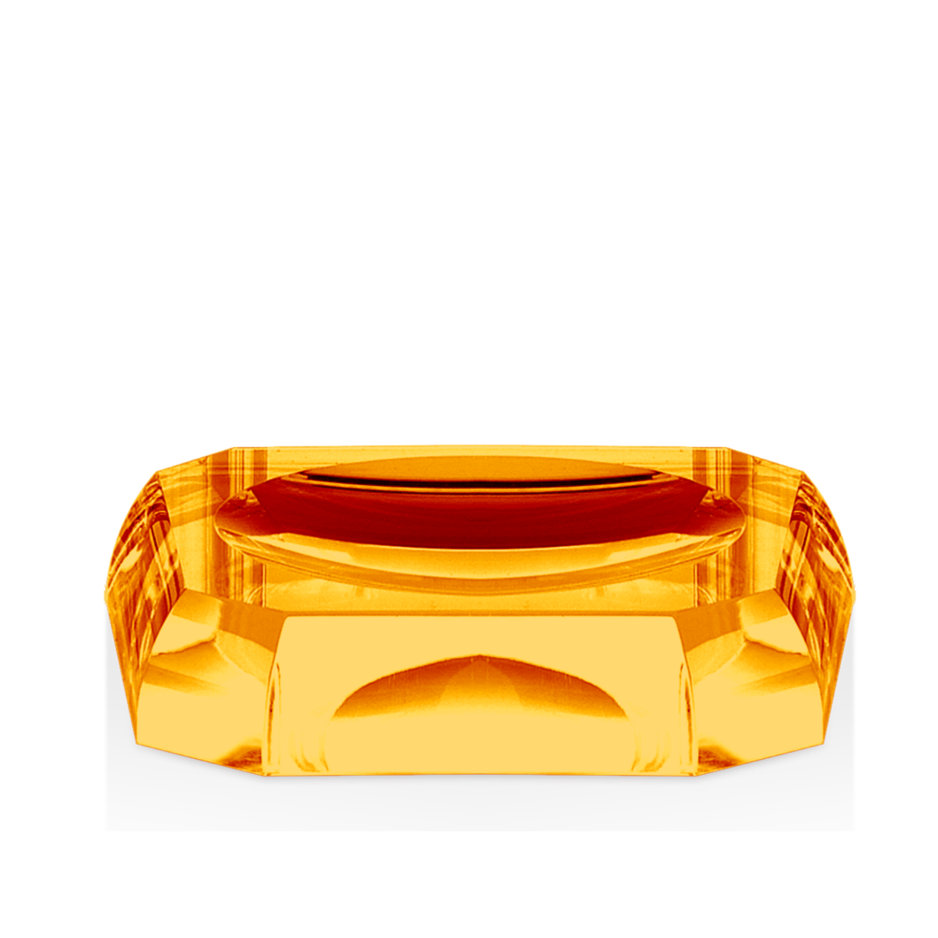 Kristall Soap Dish- Amber