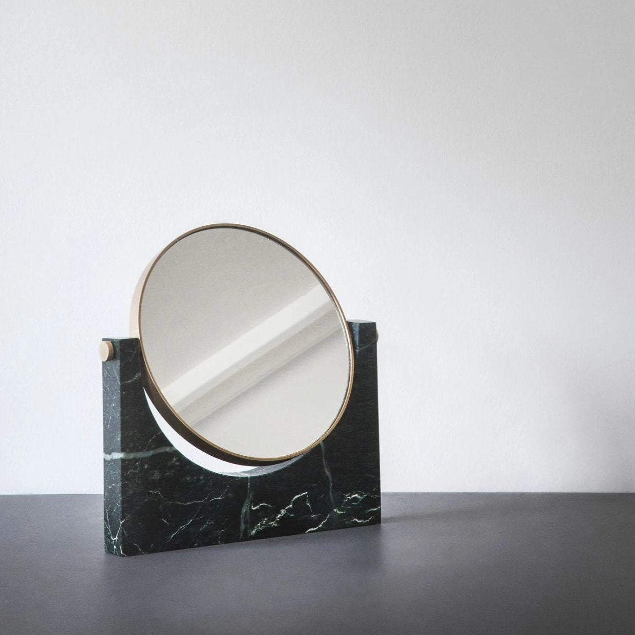 Pepe Marble Mirror- Brass/Green