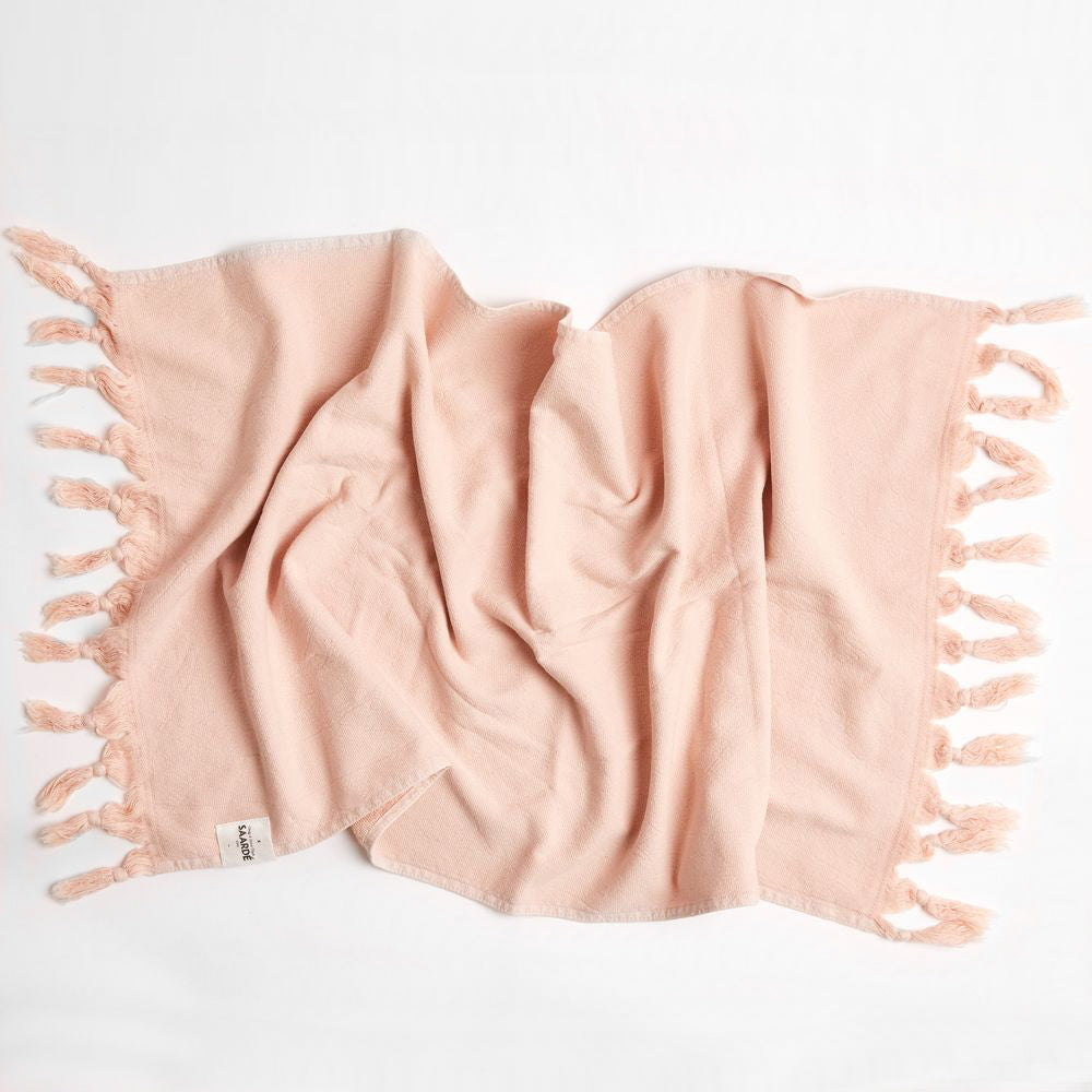 Vintage Wash Hand Towel- Dusty Pink