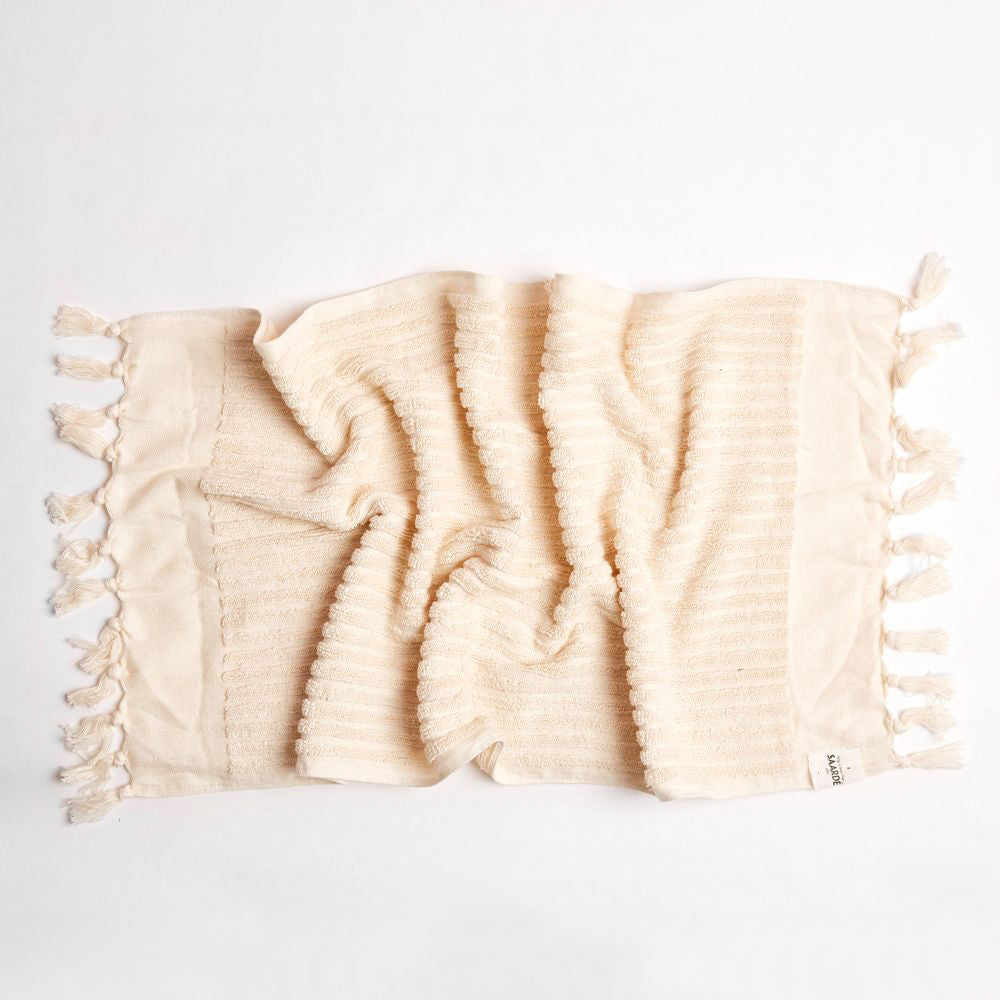 Wanderer Hand Towel- Stripe Natural