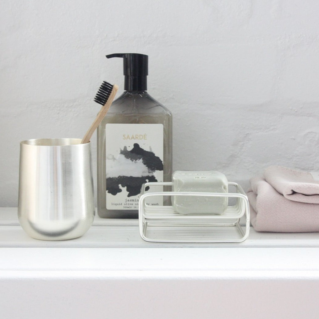 Isla Toothbrush Holder- Silver
