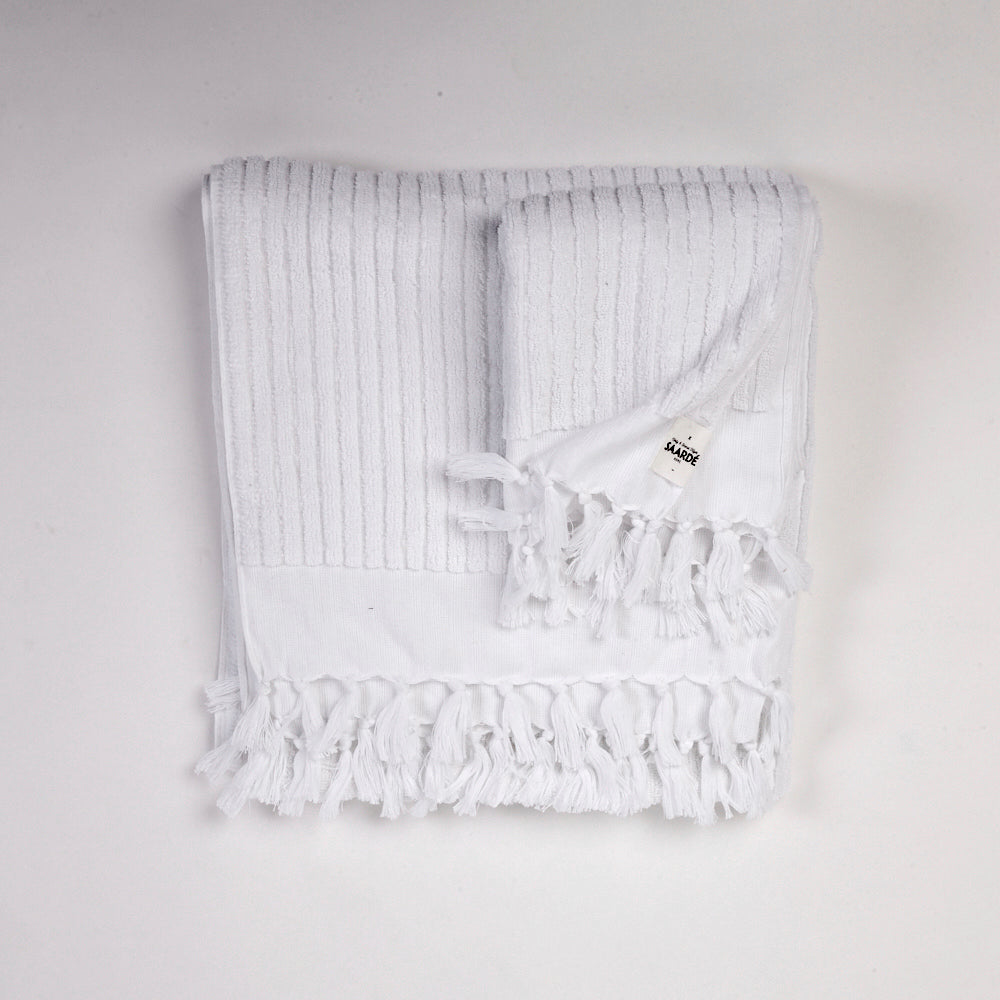 Wanderer Hand Towel- Stripe White