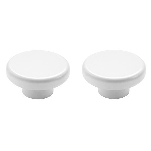 Norm Knobs 2PC- White