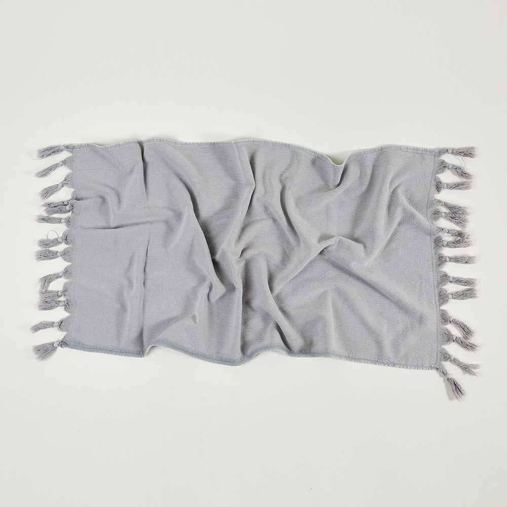Vintage Wash Hand Towel- Pale Grey