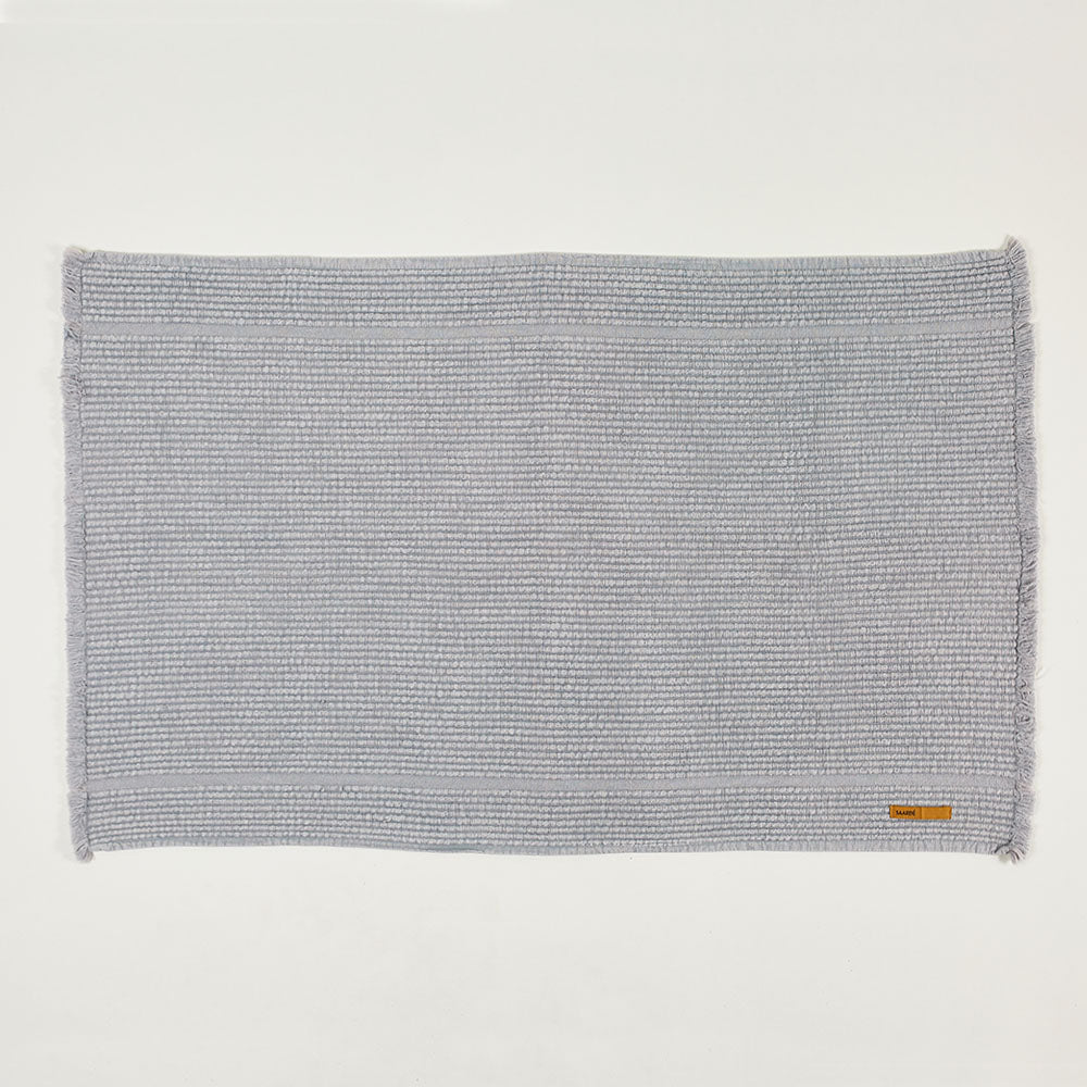 Vintage Wash Bath Mat- Pale Grey