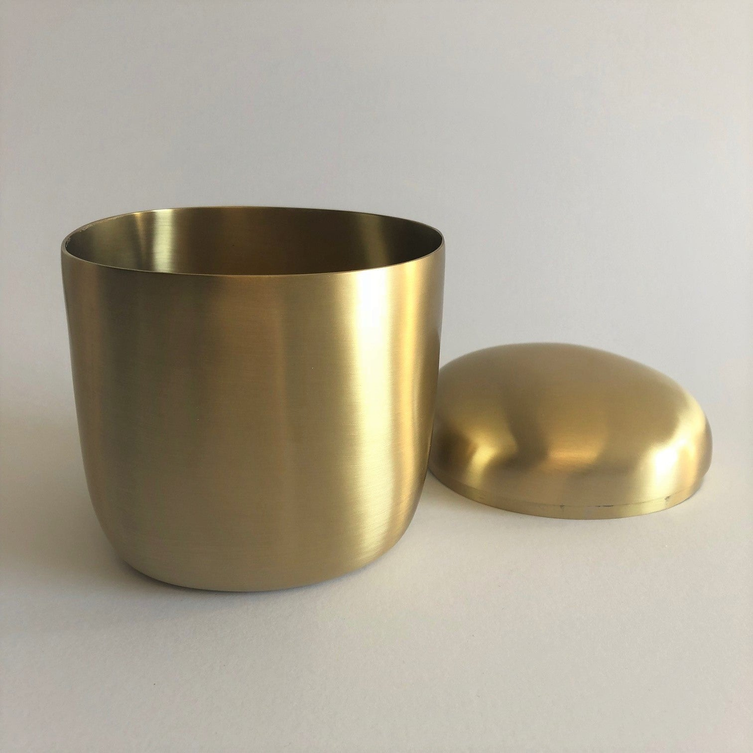 Lidded Box- Brushed Brass