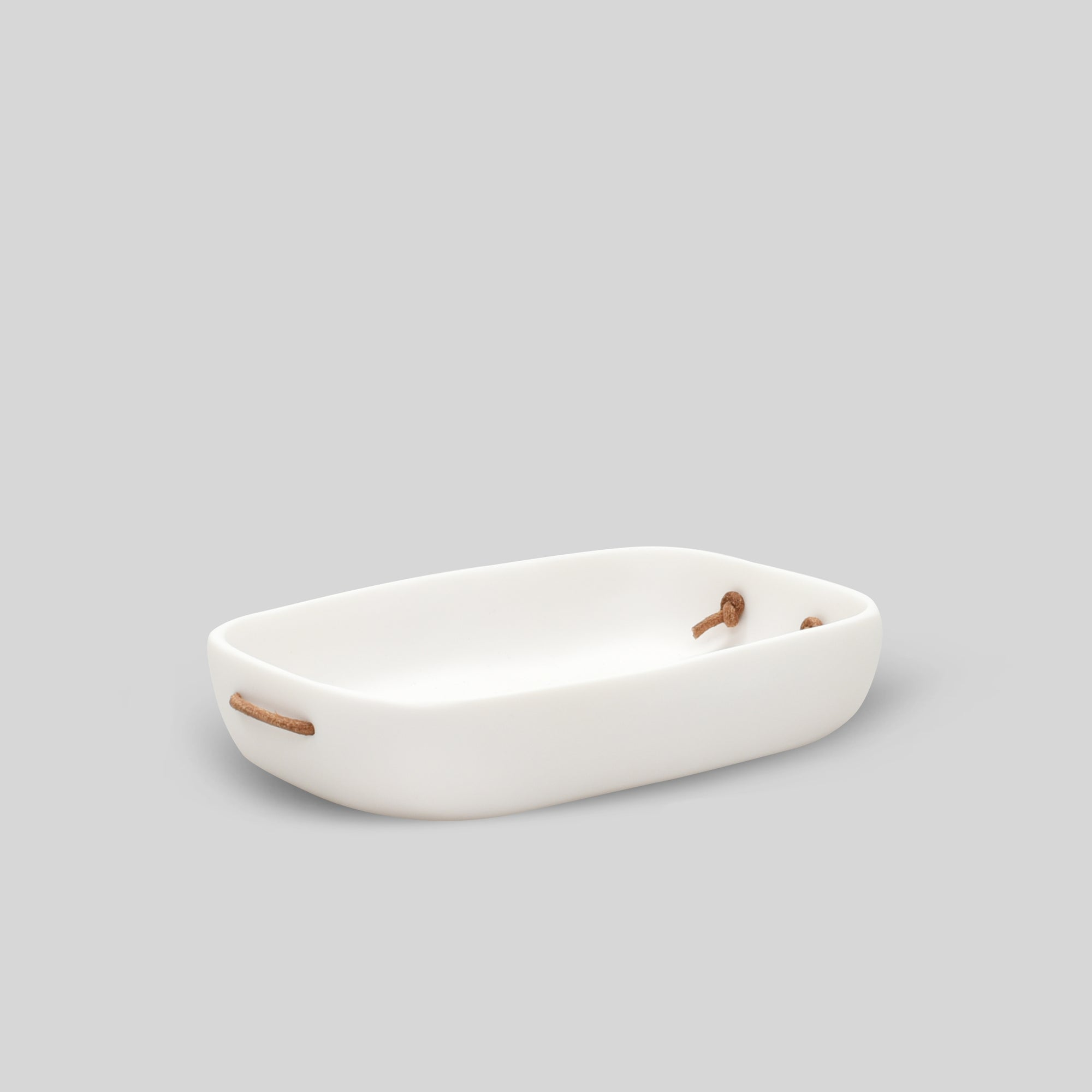 Water Bath Guest Towel Tray- White