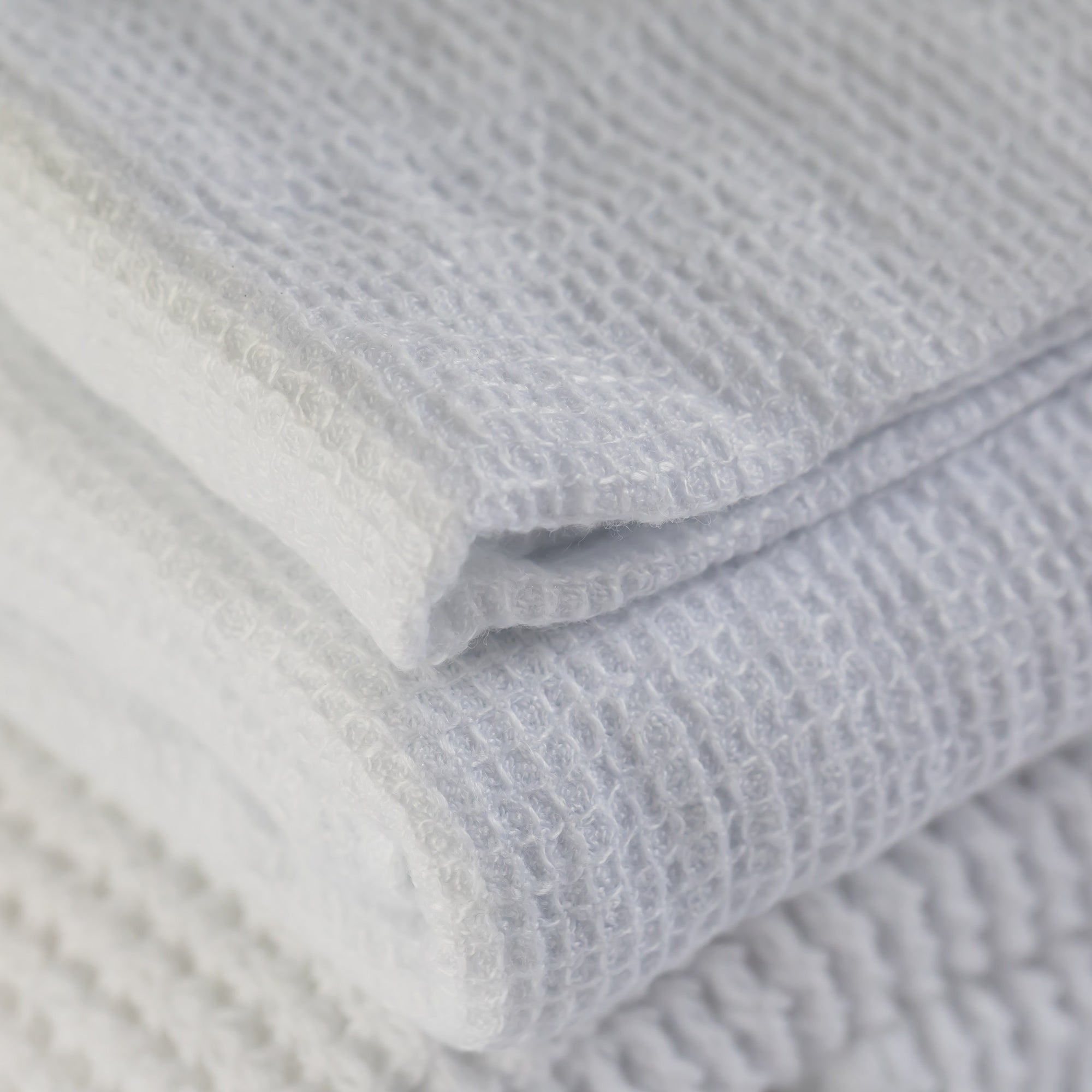Waffle Bath Towel- Optic White