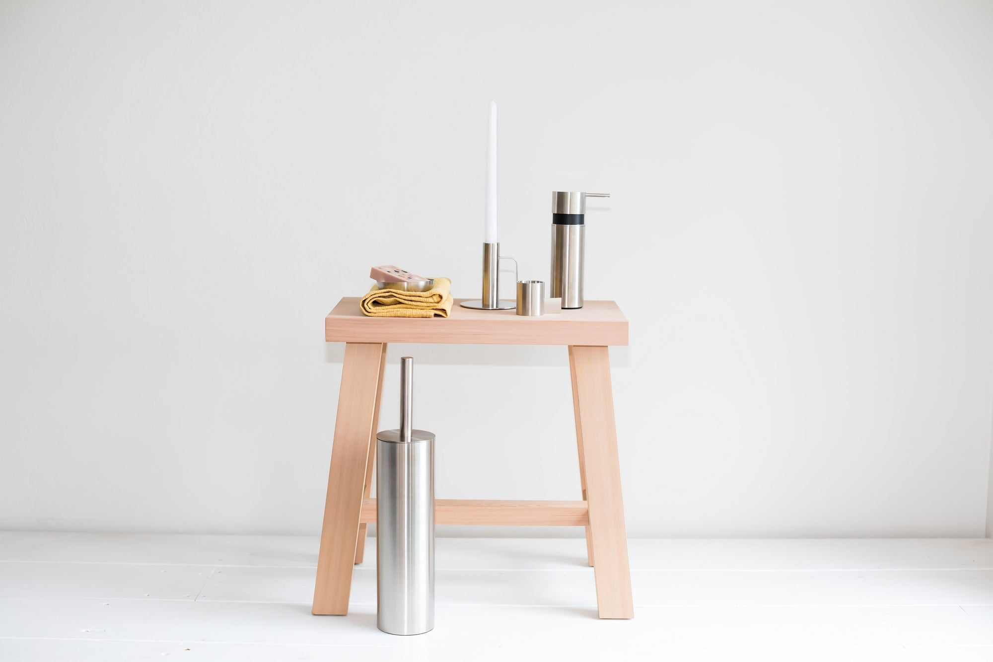 Chamberstick Candleholder- Brushed