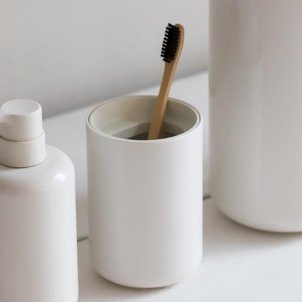 Lunar Toothbrush Cup- White