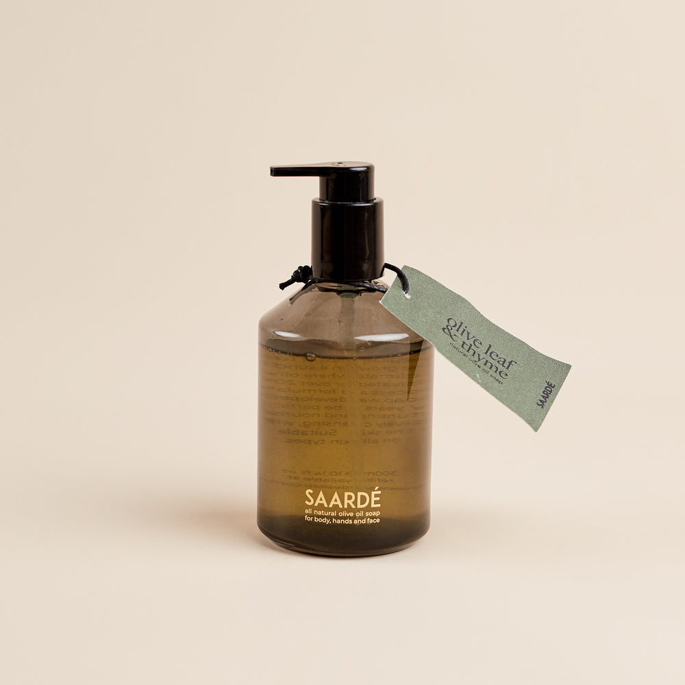 Olive Oil Liquid Soap- Thyme + Olive leaf