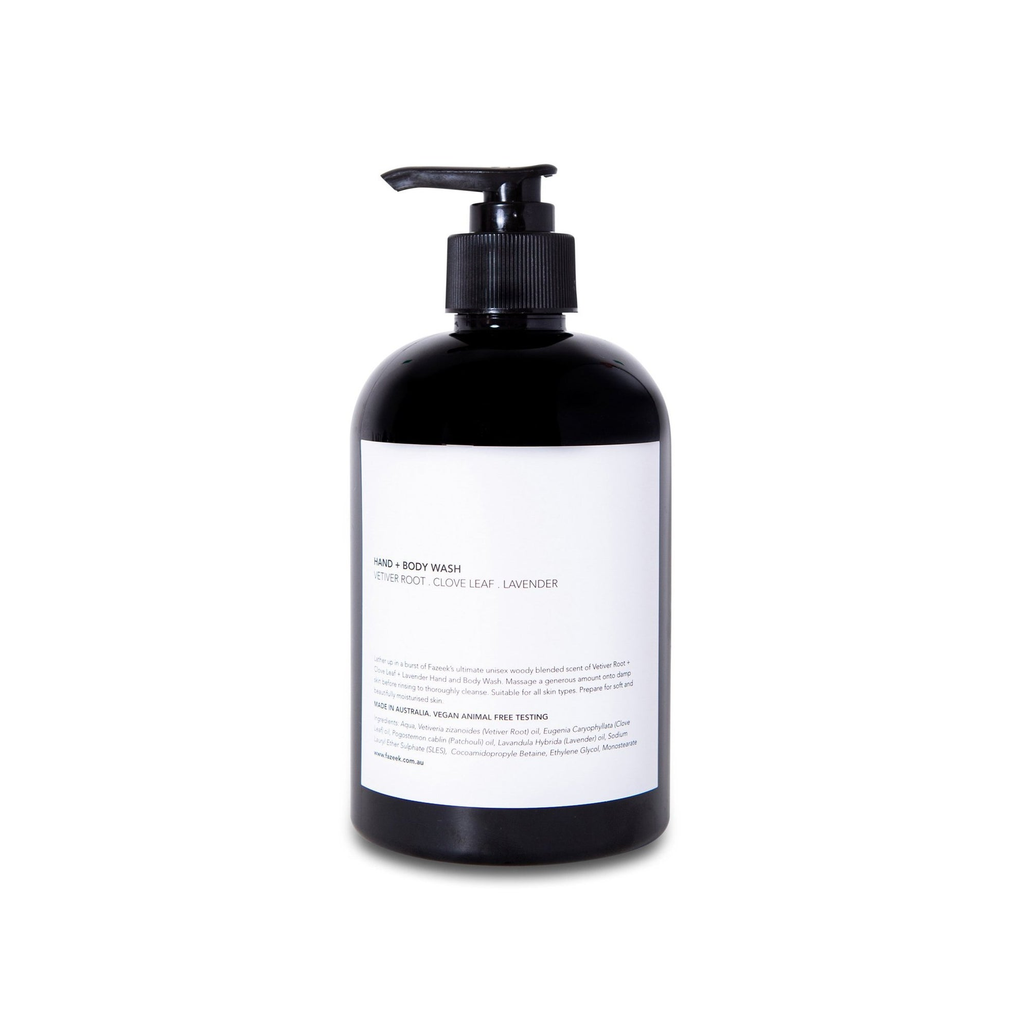 Hand & Body Wash- Vetiver & Clove Leaf