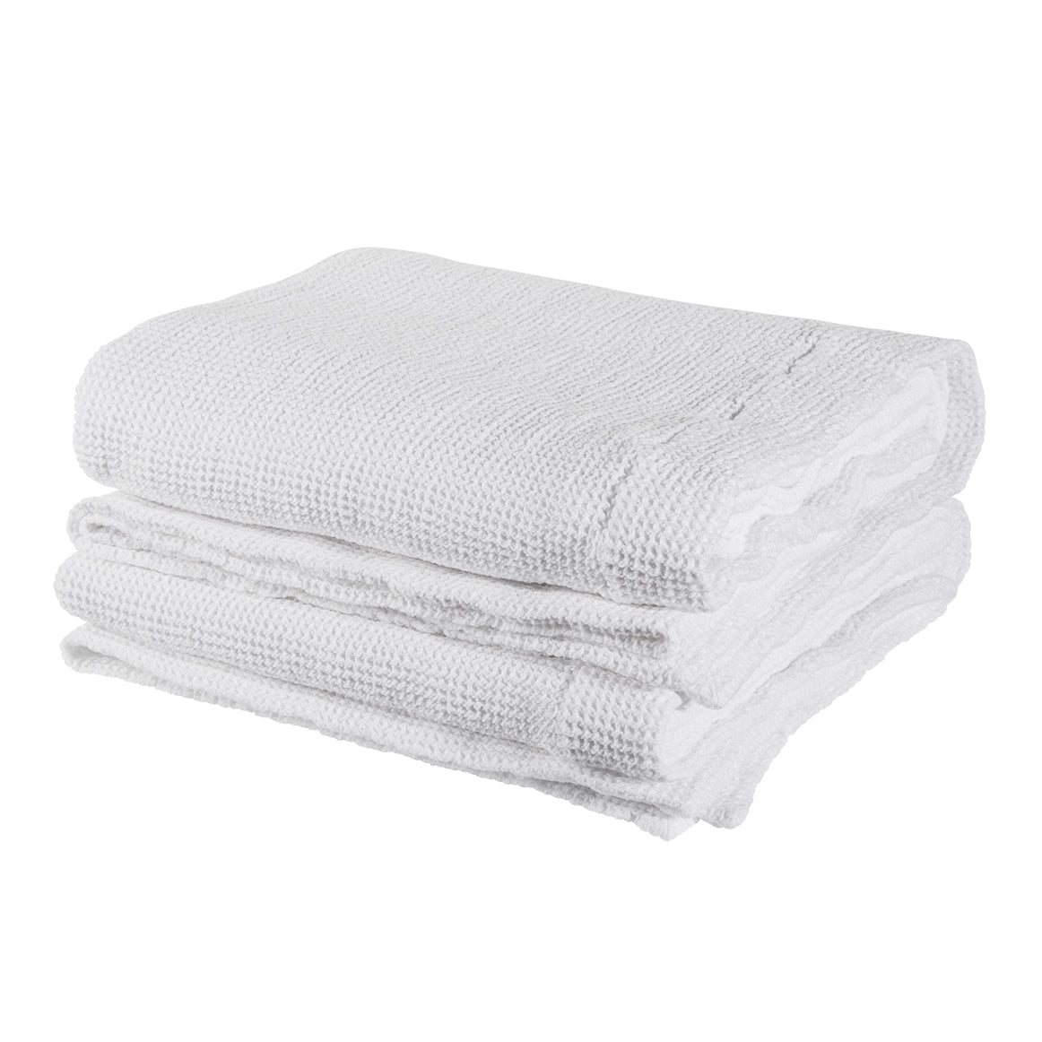 Waffle XL Bath Towel- Optic White