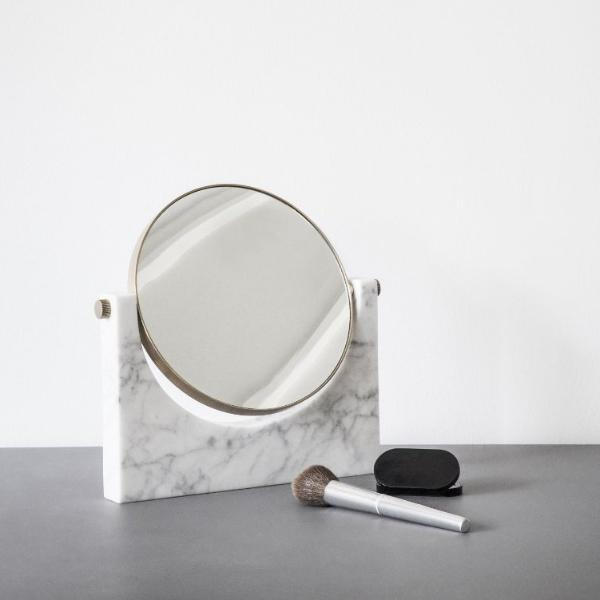Pepe Marble Mirror- Brass/White