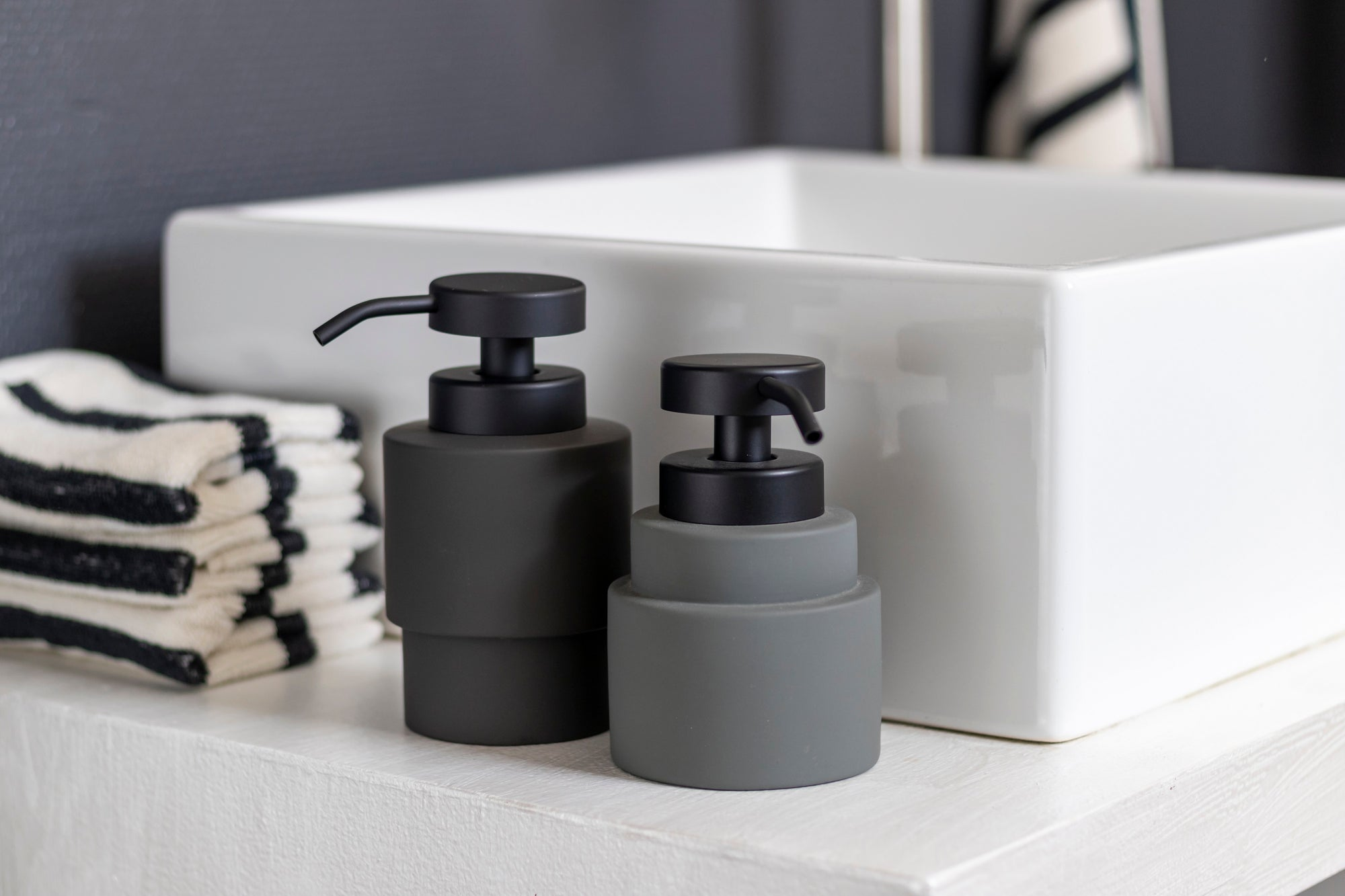 SHADES Low Soap Dispenser- Grey