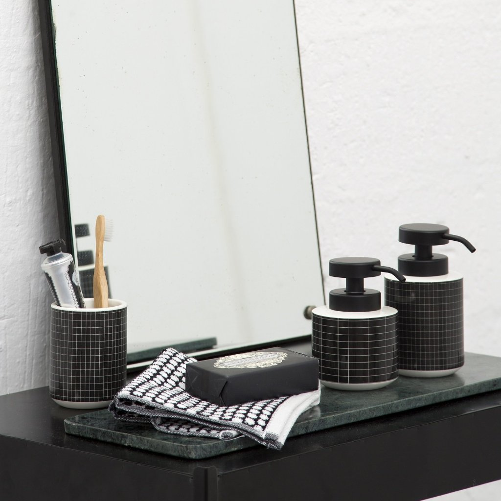 TILE STONE Toothbrush Holder- Black