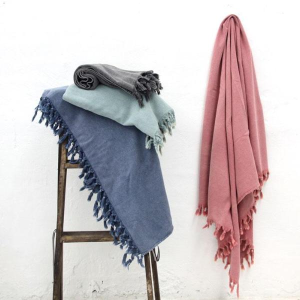 Vintage Wash Bath Towel- Denim