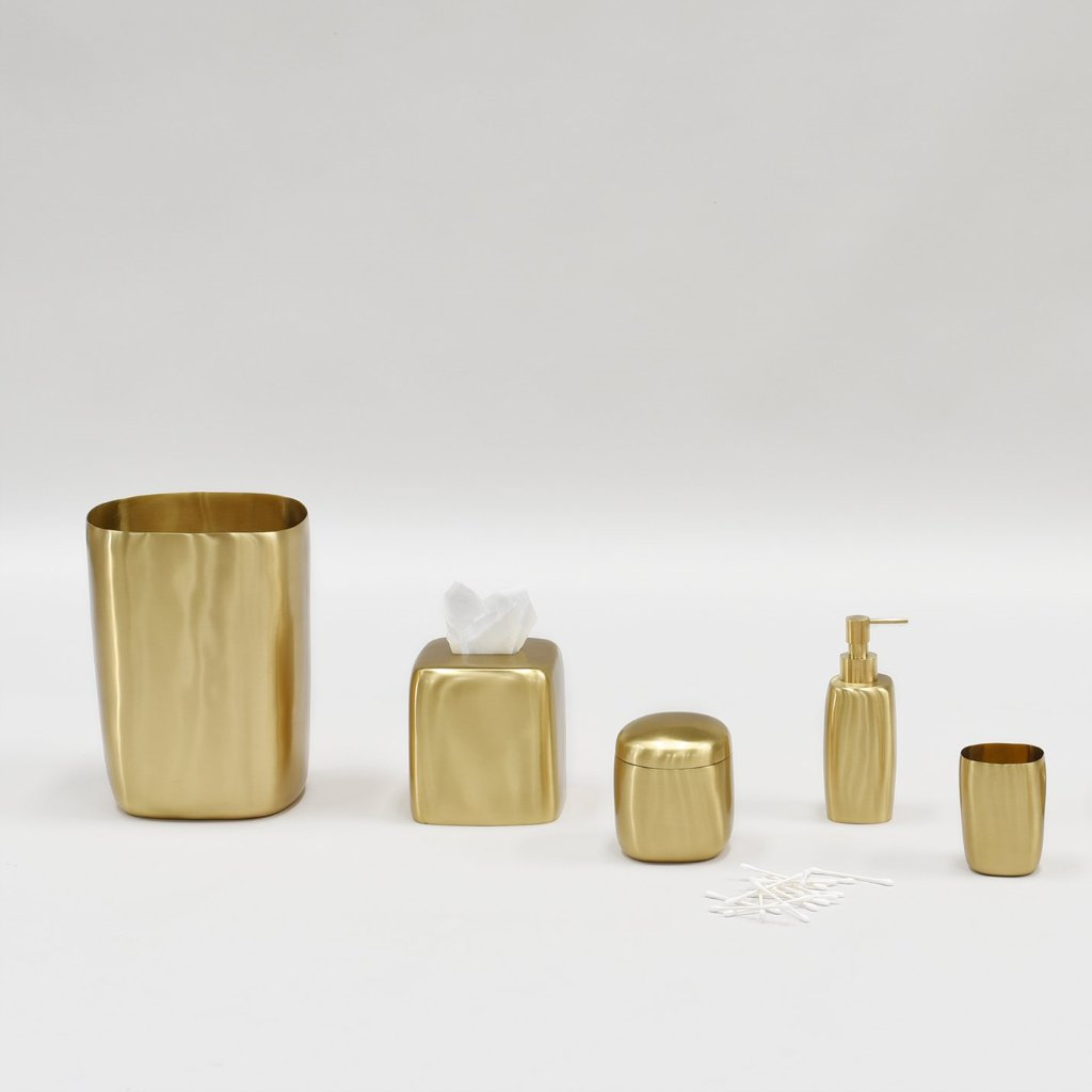 Waste Bin- Brushed Brass