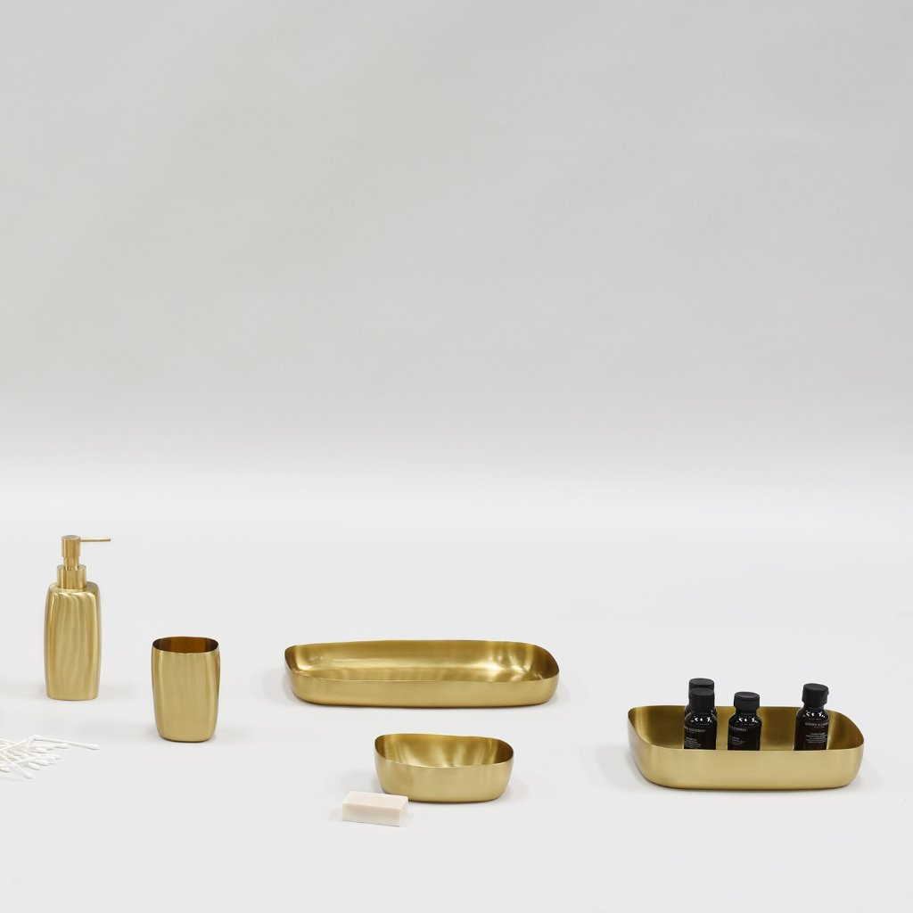 Guest Towel Tray- Brushed Brass