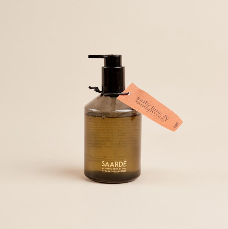Olive Oil Liquid Soap- Kaffir Lime + Sandalwood
