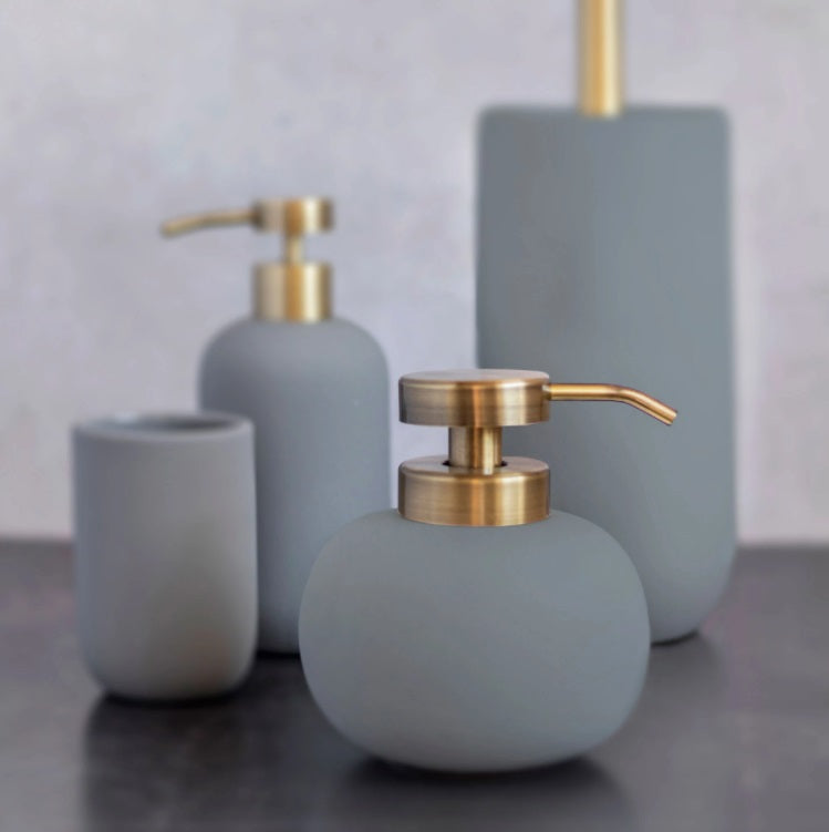 LOTUS Soap Dispenser Low- Frost Green