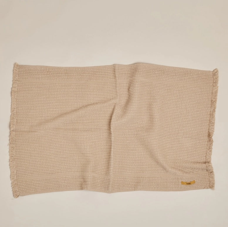 Vintage Wash Ribbed Bath Mat- Nutmeg