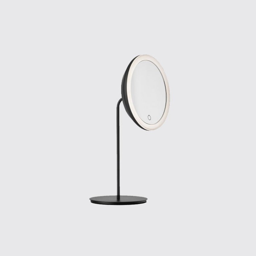 Zone freestanding mirror w/ Light- Black