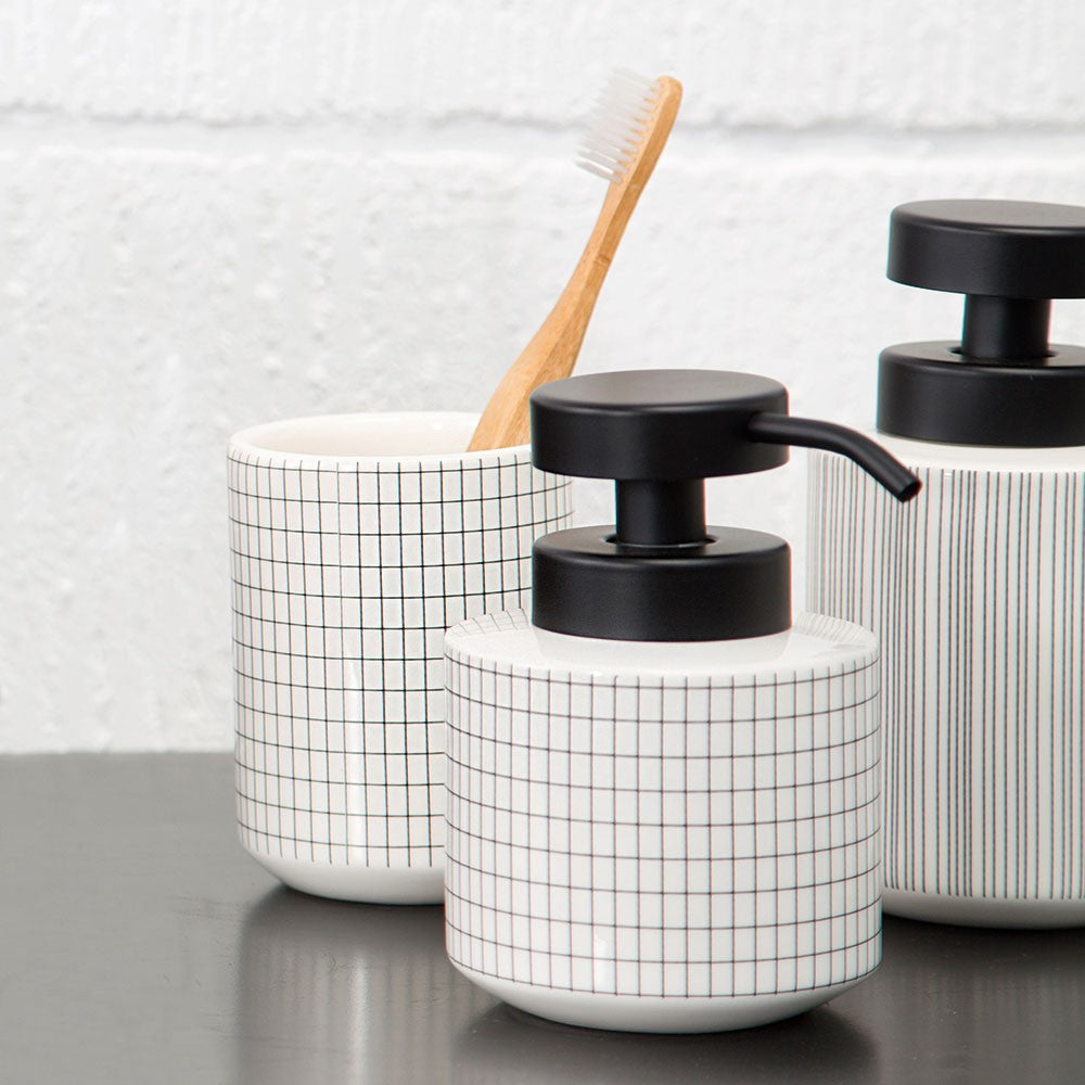TILE STONE Toothbrush Holder- Off-White