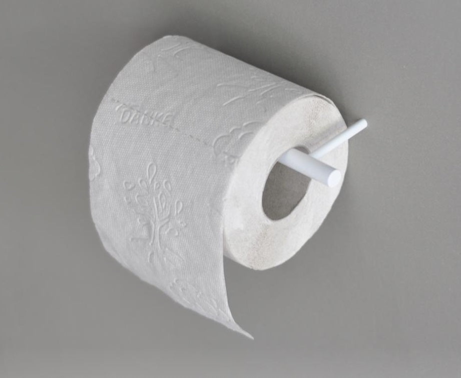 White Line Toilet Paper Holder
