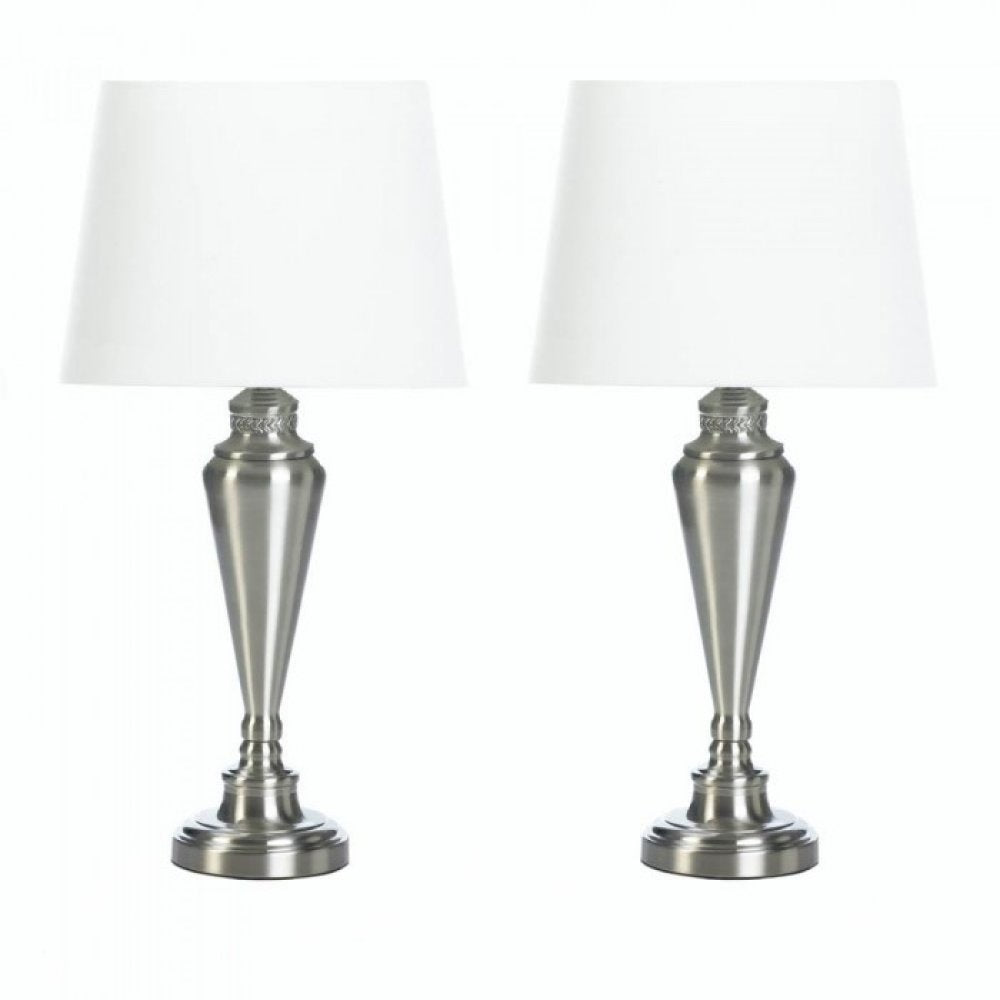 Nickel Plated Lamp Trio