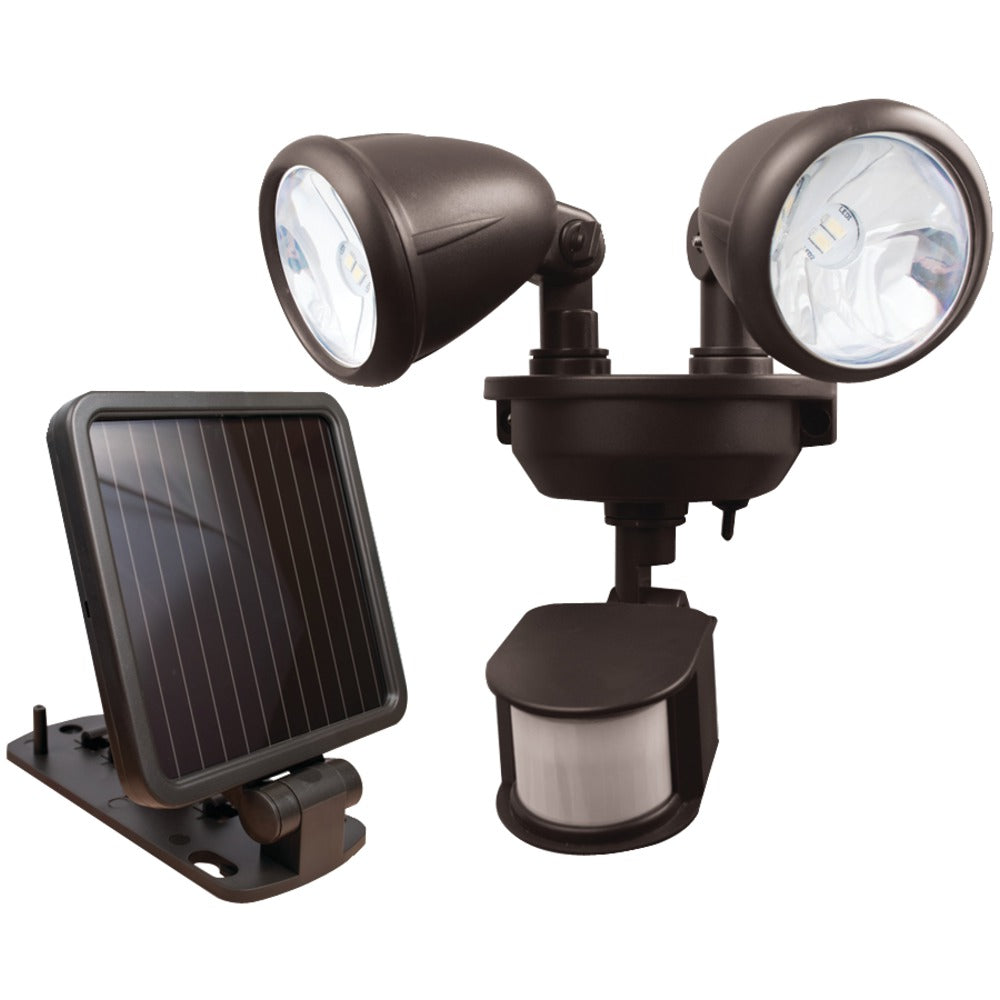 Maxsa Innovations Dual-head Solar Spotlight (dark Bronze)
