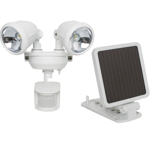 Maxsa Innovations Solar-powered Dual Head Led Security Spotlight (white)