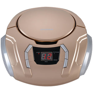 Sylvania Portable Cd Players With Am And Fm Radio (champagne)
