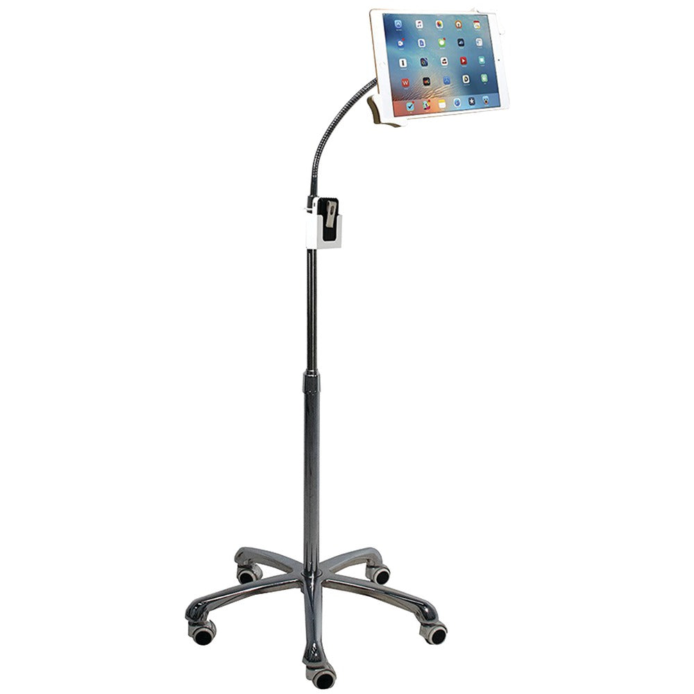 Cta Digital Ipad And Tablet Heavy-duty Gooseneck Floor Stand
