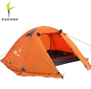 Exert's FLYTOP Outdoor Camping Tent For Rest andTravel.   2 Persons 3 Double Layer Windproof Waterproof Winter Professional Camp or Tourist Tent.