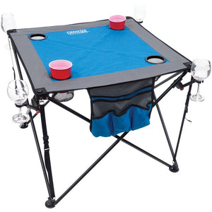Creative Outdoor Distributor Folding Table With Cupholders.  (Blue And Gray)