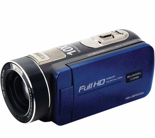 Bell+Howell 20.0-Megapixel 1080P Ultra-Zoom Camcorder (Blue)