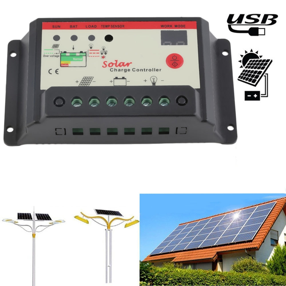 Hot Selling! Solar Regulator 30A Solar Charge Controller PWM For Solar Panel Battery