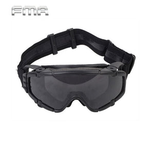 FMA Tactical Goggles With Fan Glasses Airsoft Anti-fog Durable Nylon Protector.