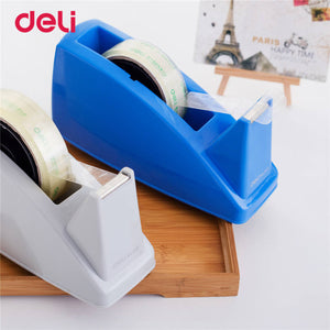 Deli 1pcs Practical Plastic Adhesive Tape cutter tape Dispenser Office Desktop carton supplies Scotch Tape Cutter size 24mm